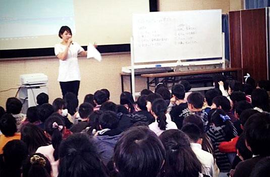 2019年 市立伊丹高等学校にて(高校生向け授業・起業セミナー)